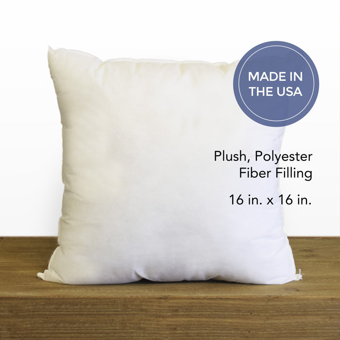 "16"" x 16"" Hypoallergenic Pillow Insert *Made in Seattle, USA*"