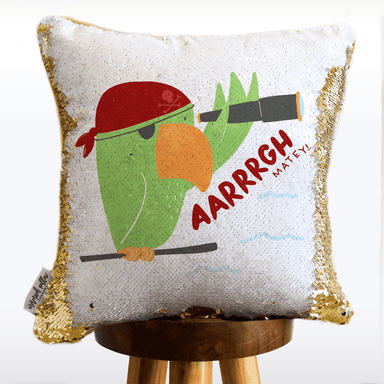 Pirate Mermaid Pillow with Reversible White and Gold Sequins | COVER ONLY (Inserts Sold Separately)