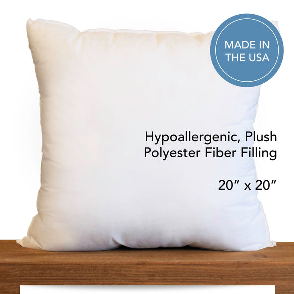 "20"" x 20"" Hypoallergenic Pillow Inserts *Made in Seattle, USA*"