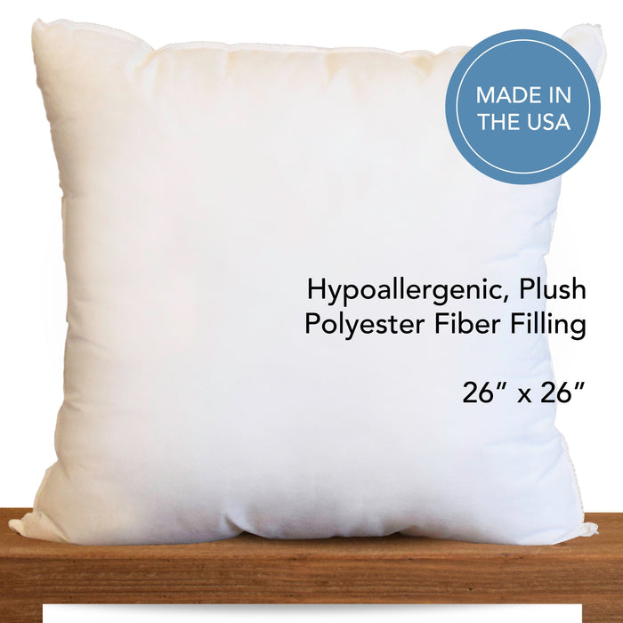 "26"" x 26"" Hypoallergenic Pillow Inserts *Made in Seattle, USA*"