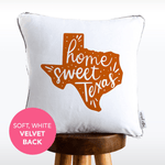 Home Sweet Texas Hand Lettered Mermaid Pillow w/ Silver & White Sequins