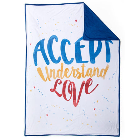 ACCEPT Blanket (100% Velvet / 48 in X 60 in) - Mermaid Pillow Co
