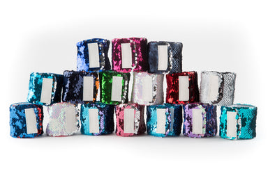 *Velcro Original* - Magic EXPLORE Mermaid Bracelet w/ Reversible Sequins & Velvet Lining - Mermaid Pillow Co