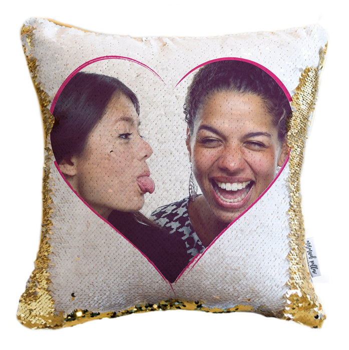 BFF Sequin Pillow: *Add Your Hidden Photo* to a Reversible Sequin Pillow Cover!