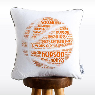 Basketball Favorite Things Reversible Sequin Pillow