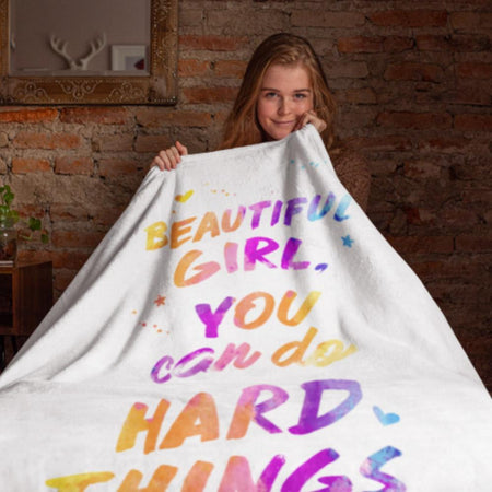 "Beautiful Girl Premium Sherpa Blanket (40"" x 60"")"