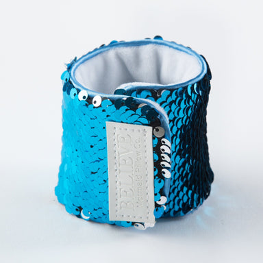 *Velcro Original* - Magic BELIEVE Mermaid Bracelet w/ Reversible Sequins & Velvet Lining - Mermaid Pillow Co
