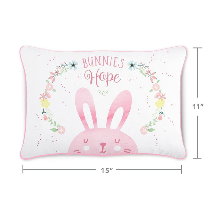 HOPE Bunny Pillow w/ Reversible Iridescent & Silver Sequins - Mermaid Pillow Co