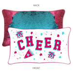 Cheer Mermaid Pillow w/ Reversible Burgundy & Turquoise Sequins - Mermaid Pillow Co