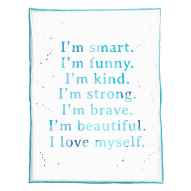 "CONFIDENCE 48"" X 60"" BLANKET (Capitalized I'm)  (100% VELVET) - Mermaid Pillow Co"
