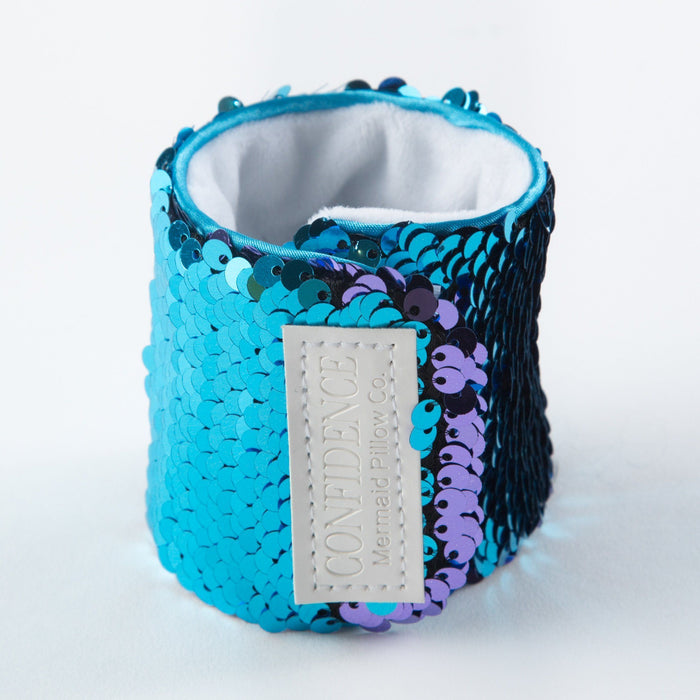 *Velcro Original* - Magic CONFIDENCE Mermaid Bracelet w/ Reversible Sequins & Velvet Lining - Mermaid Pillow Co