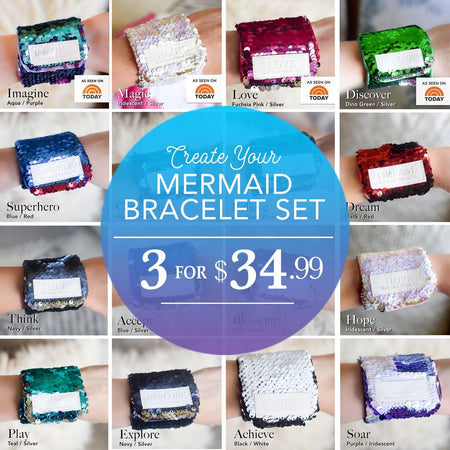 3 VELCRO BRACELET DISCOUNT SET: Choose your colors - Mermaid Pillow Co