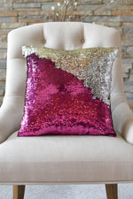 Fuschia Pink & Silver Sequin Mermaid Pillow *Limited Edition* - Mermaid Pillow Co