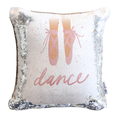 Dance Mermaid Pillow Cover w/ Reversible Silver & White Sequins
