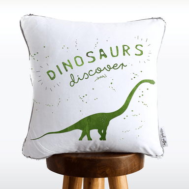 DISCOVERY Dinosaur Mermaid Pillow w/ Silver & White Sequins
