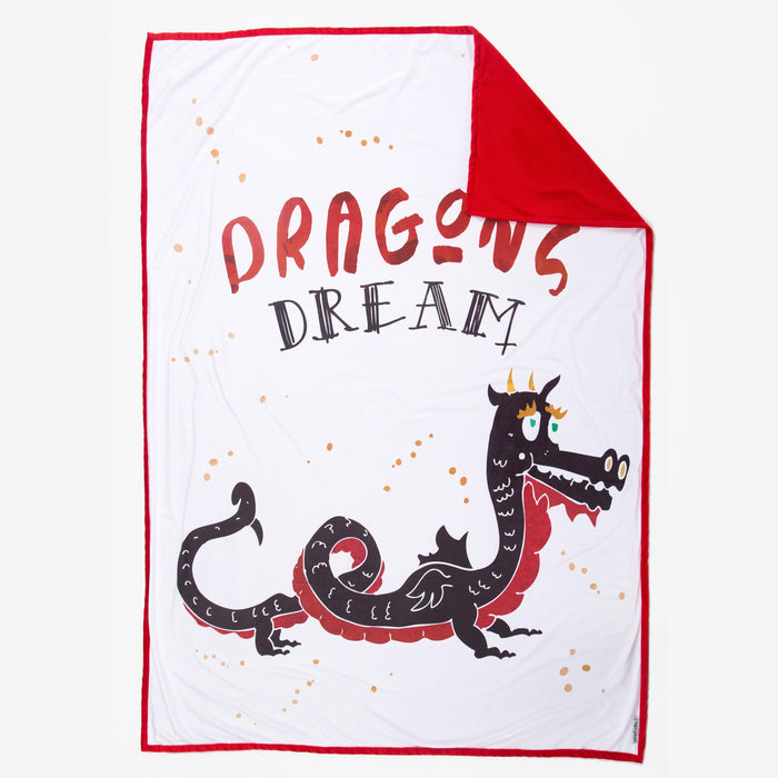 DREAM Dragon Blanket (100% Velvet) - Mermaid Pillow Co