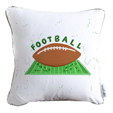 Football Mermaid Pillow with White & Gold Reversible Flip Sequins - COVER ONLY (Inserts Sold Separately)