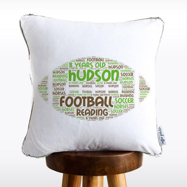 Football Favorite Things Reversible Sequin Pillow
