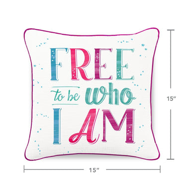 FREE TO BE Mermaid Pillow w/ Burgundy & Teal Sequins - Mermaid Pillow Co