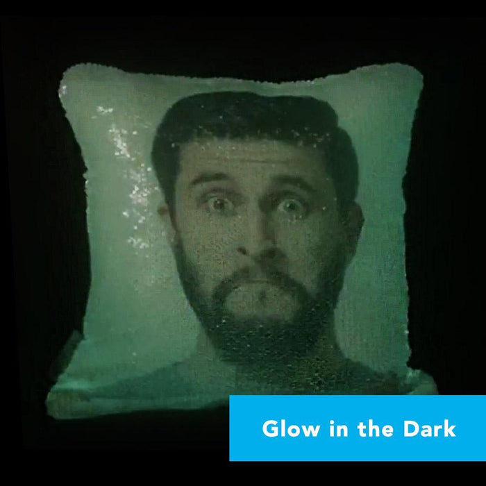 Boyfriend Nightlight Pillow | *Add Your Own Photo* Glow-in-the-Dark Sequin Pillow