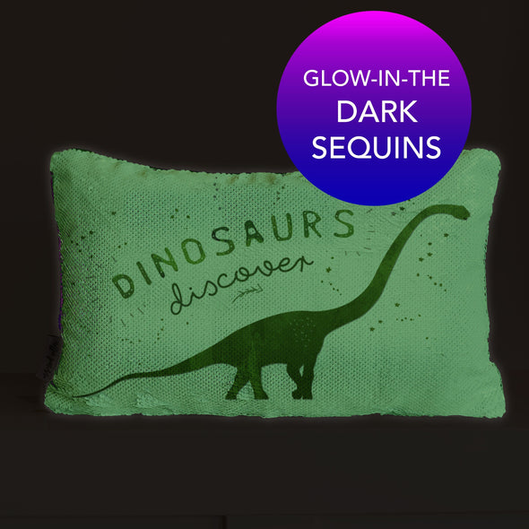 Dinosaur Nightlight Pillow | Glow-in-the-Dark Pillow Bedtime Pillow | Includes Insert
