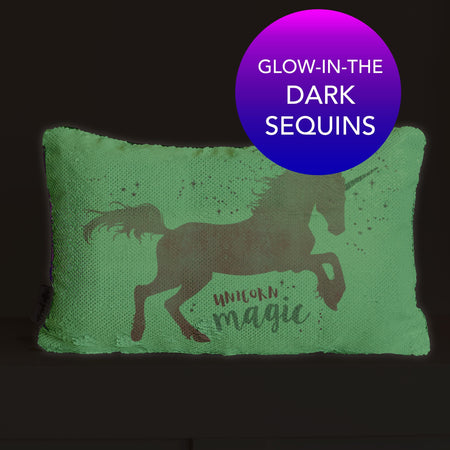 Unicorn Nightlight Pillow | Glow-in-the-Dark Pillow Bedtime Pillow | Includes Insert