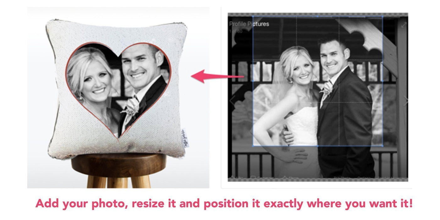 Cupid Cushion: You & Your Crush on a HIDDEN Sequin Pillow