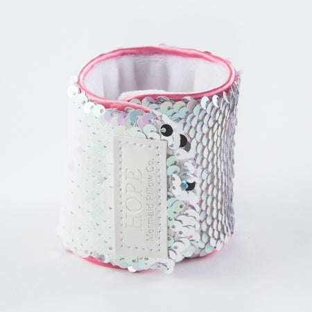 *Velcro Original* - Magic HOPE Mermaid Bracelet w/ Reversible Sequins & Velvet Lining - Mermaid Pillow Co
