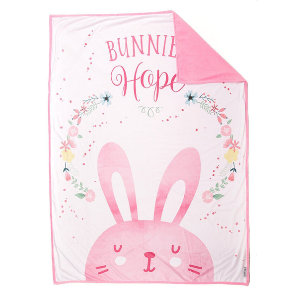 *Easter Basket* HOPE Bunny Blanket (100% Velvet) - Mermaid Pillow Co