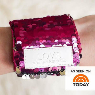 *Velcro Original* - LOVE Mermaid Bracelet w/ Reversible Sequins & Velvet Lining - Mermaid Pillow Co
