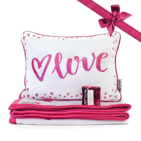 LOVE Pillow & Velvet Blanket Set - Mermaid Pillow Co