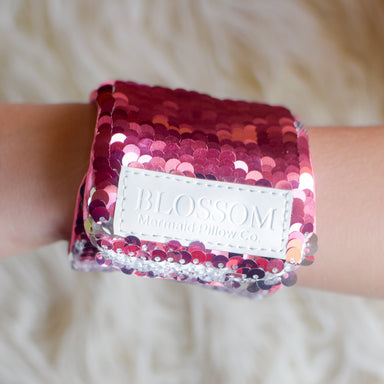 *Velcro Original* - Magic BLOSSOM Mermaid Bracelet w/ Reversible Sequins & Velvet Lining - Mermaid Pillow Co