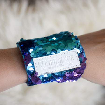 *The Original* Magic CONFIDENCE Mermaid Bracelet w/ Reversible Sequins & Velvet Lining