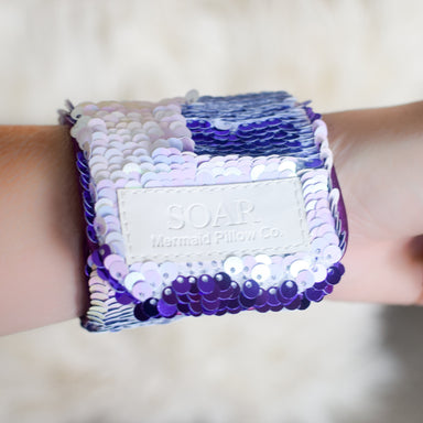 *Velcro Original* - Magic SOAR Mermaid Bracelet w/ Reversible Sequins & Velvet Lining - Mermaid Pillow Co