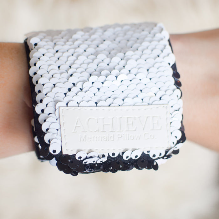 *Velcro Original* - ACHIEVE Mermaid Bracelet w/ Reversible Sequins & Velvet Lining - Mermaid Pillow Co