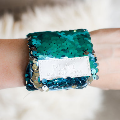 *Velcro Original* - Magic PLAY Mermaid Bracelet w/ Reversible Sequins & Velvet Lining - Mermaid Pillow Co