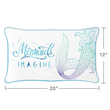 IMAGINE Mermaid Pillow w/ Reversible Sequins Back - Mermaid Pillow Co