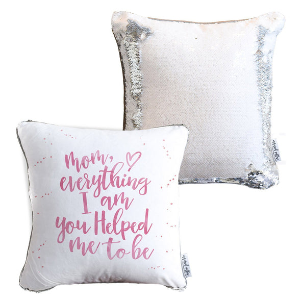 *Mother's Day* Mermaid Pillow w/ White & Silver Sequins [Limited Edition]