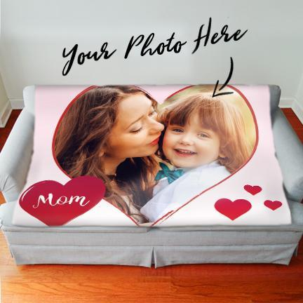 Mother's Day *Personalized Sherpa Photo Blanket*