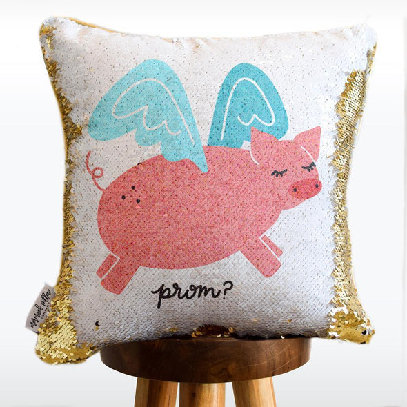 Promposal Pillow [pig: prom? I'll ask you to dance when pigs fly]