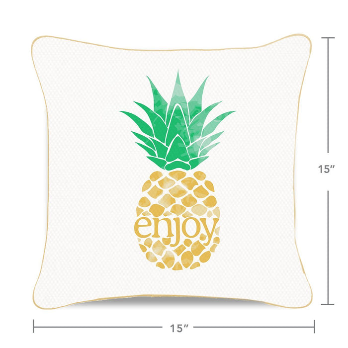 ENJOY Pineapple Mermaid Pillow w/ Gold & White Sequins - Mermaid Pillow Co