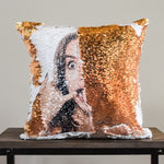 PrankPillows: Your HIDDEN FACE on Reversible Sequins! - Mermaid Pillow Co