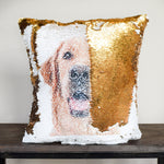 PupPillow: Print Your Pup's photo on pillow reversible SEQUINS! - Mermaid Pillow Co