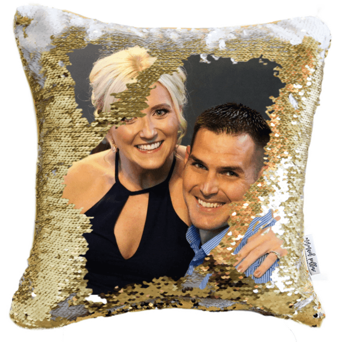 Profile Pillow: We Print Your FB Profile on a Magic Sequin Pillow Cover!