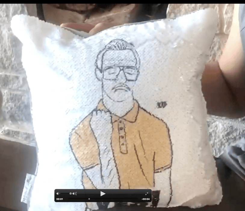 Kip-Flip Yes! Reversible Sequin Pillow