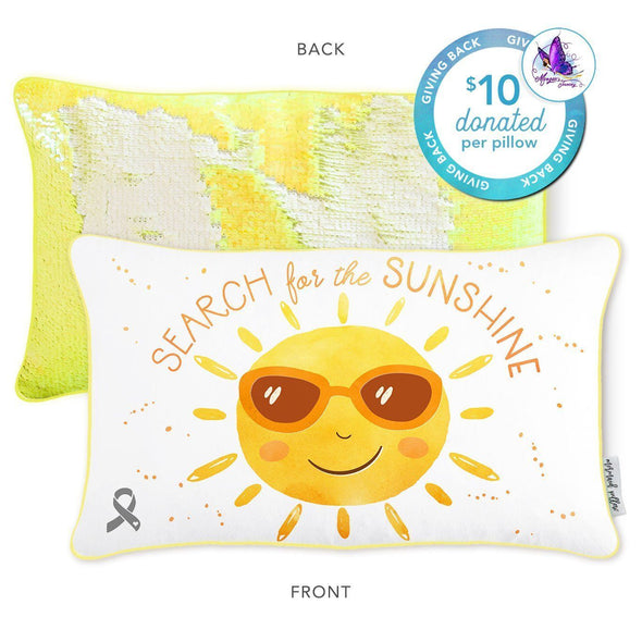 Morgan's Journey to Sunshine Mermaid Pillow - Mermaid Pillow Co