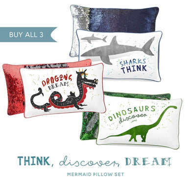 THINK, DISCOVER, DREAM Positivity Pillow Collection (Set of 3) - Mermaid Pillow Co