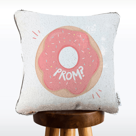 Promposal Pillow [donut: donut say no. prom?]