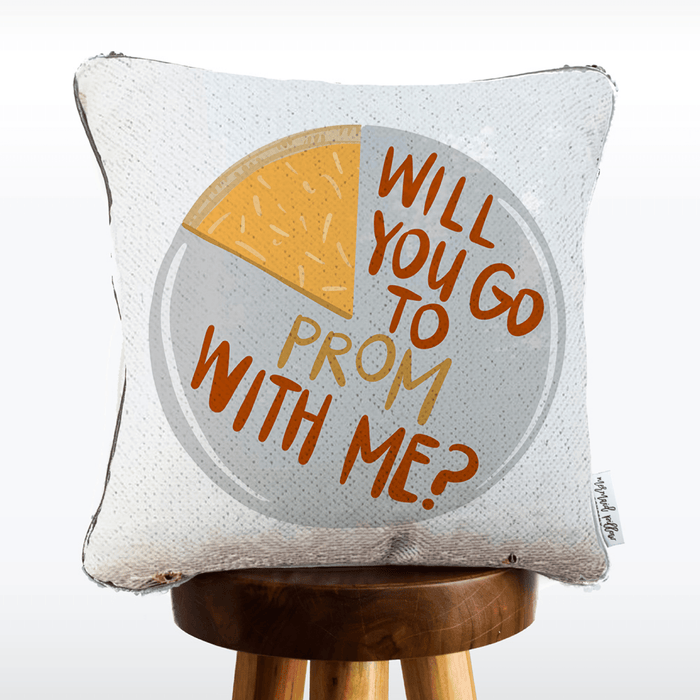 Promposal Pillow [pizza: will you go to prom with me?] | COVER ONLY (Inserts Sold Separately)