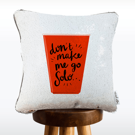Promposal Pillow [solo cup: don't make me go solo. prom?]
